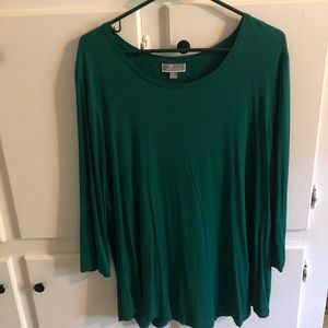 JMCollection plus size 2xl tunic 3/4 sleeves